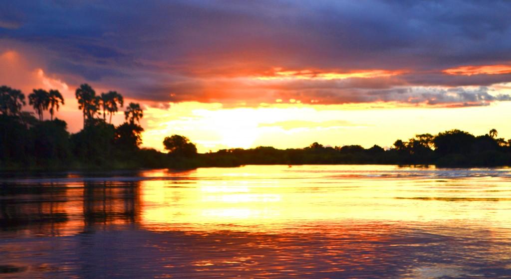 sunset zambia